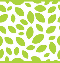 seamless pattern with tea leaves on white vector image