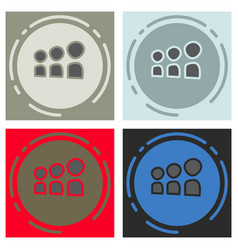 Set of myspace social network icon vector