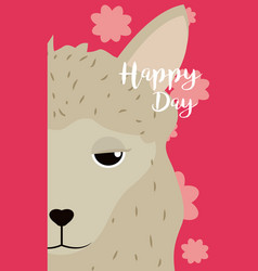 Sheep cute animal cartoon card vector