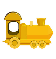 Single picture yellow train on white background vector
