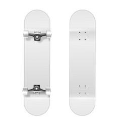 skateboarding realistic 3d white blank vector image