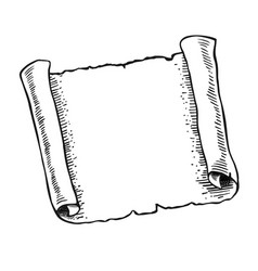 Sketch of ancient scroll vector