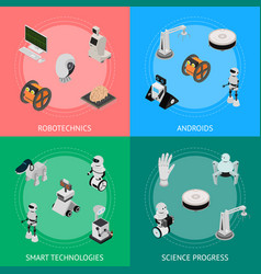 smart technologies devices banner card set vector image