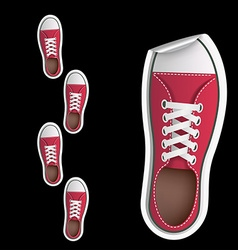 Stickers sneakers vector