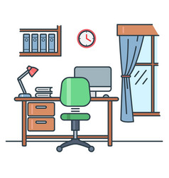 study room vector image