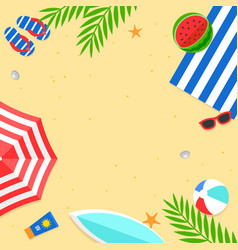 summer time summer beach background vector image