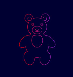 teddy bear sign line icon vector image
