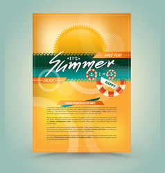 template for summer advertising vector image