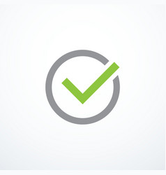 tick icon vector image