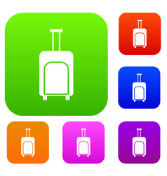 Travel suitcase set collection vector