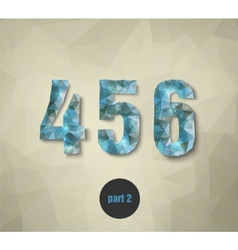 Triangular numbers abstract blue vector