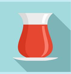 Turkish tea icon flat style vector