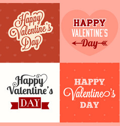 typographic happy valentines day vector image