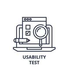 Usability test line icon concept usability test vector