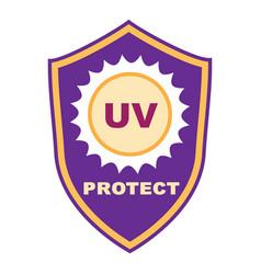 Uv shield protect icon cartoon style vector