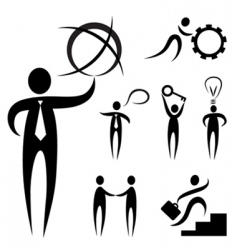 business people symbol vector image vector image