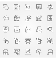 Email marketing line icons vector image
