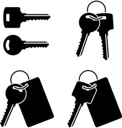 set of keysfirst variant vector image