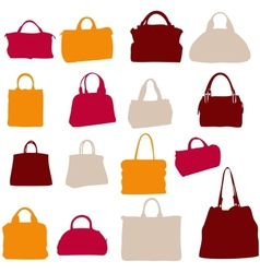 women bags silhouette vector image vector image