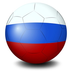 A soccer ball designed with the Russian flag vector image vector image