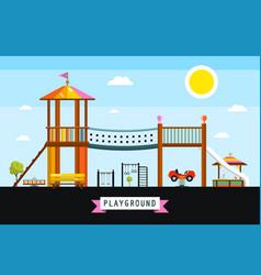 childrens playground cartoon vector image vector image