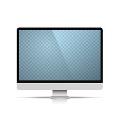 computer object on the white background vector image vector image