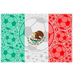 Mexico soccer balls vector image