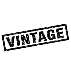 square grunge black vintage stamp vector image