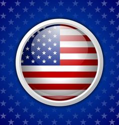 American circular badge vector image