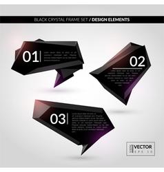 Black crystal frame set vector image vector image