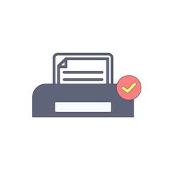 document ok paper print printer printing icon vector image
