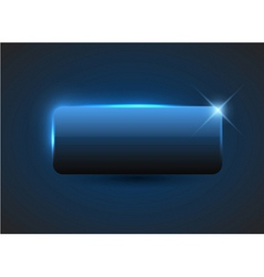 empty blue button vector image vector image