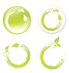 Green Eco Design Label vector image vector image