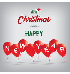 merry christmas and happy new year to red vector image vector image