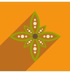 Modern flat icon with long shadow indian flower vector