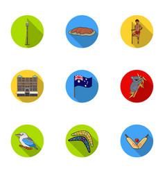 national symbols of australia web icon on vector image vector image