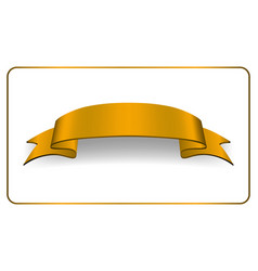 ribbon gold banner satin blank collection vector image