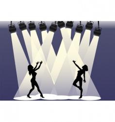spotlight dancers vector image vector image