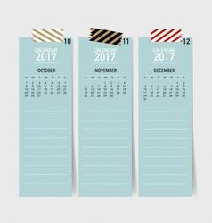 2017 calendar planner design template vector