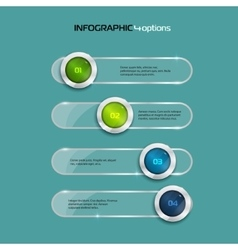 4 Steps horizontal infographic element vector