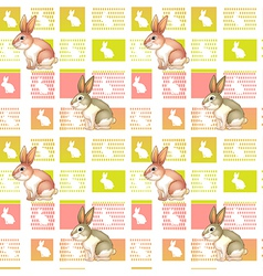 A seamless design with bunnies vector