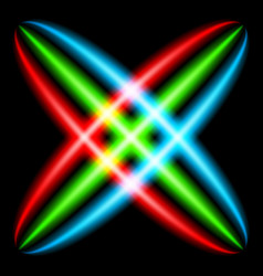 Abstract rainbow ray in the shape of a star vector