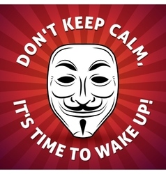 Anonymous mask poster Hacker vector image