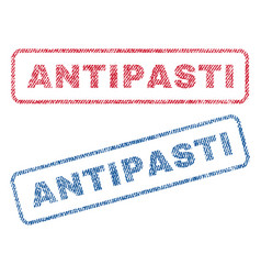 Antipasti textile stamps vector