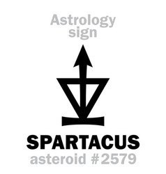 Astrology asteroid spartacus vector