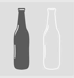 beer bottle empty vector image