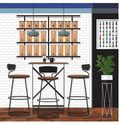 Best coffee shop design vector