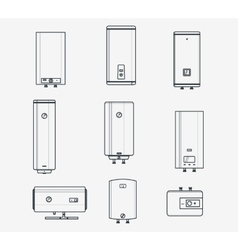Boiler liner icons vector