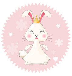 Bunny girl cute princess on vector