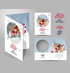 christmas card concept vector image
